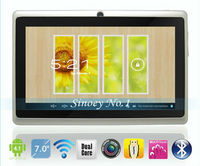 "Tablet PC 7"" dual core Q88 android 4.0 1.2GHz 512M DDR Camera 4GB Capacitive Screen 7 inch tablet PC+Gift"