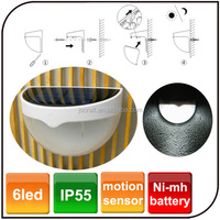 Solar energy wall lamp human body induction lamp voice control light-operated motion sensor 6 led solar fence light