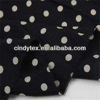 20d drapery soft white dots modal polyester printing fabric