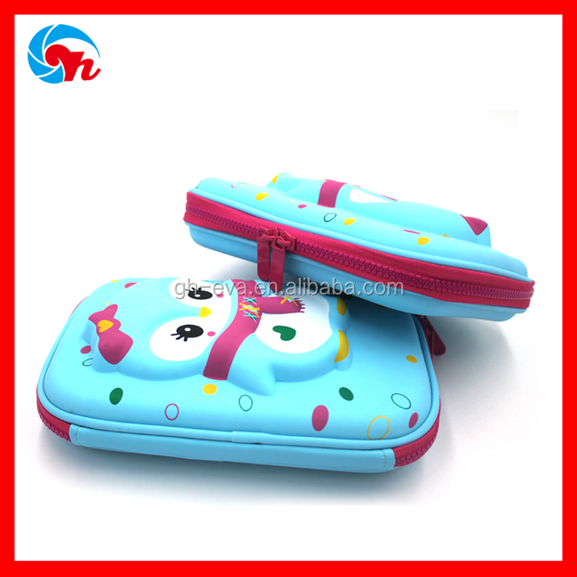 Customized waterproof magnetic eva pencil case for girl