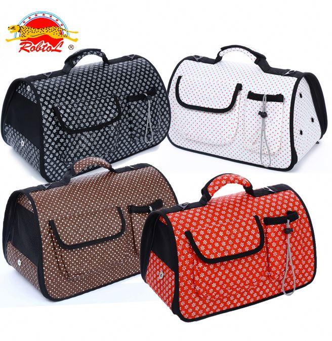 RoblionPet Breathable soft pet dog travel handle bag / Dog Cat Soft-Sided Carrier Bag / Portable dog travel carrier
