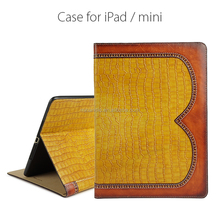 China market in guangzhou wholesale 2017 custom tablet protective case flip case for ipad mini PU leather case