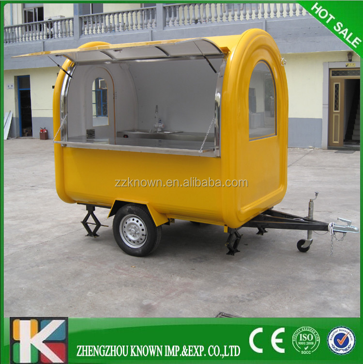 New Designed Multifunctional Street Mobile Food Van/ Mobile Food Trailer/ Food Truck Ice Maker Cart