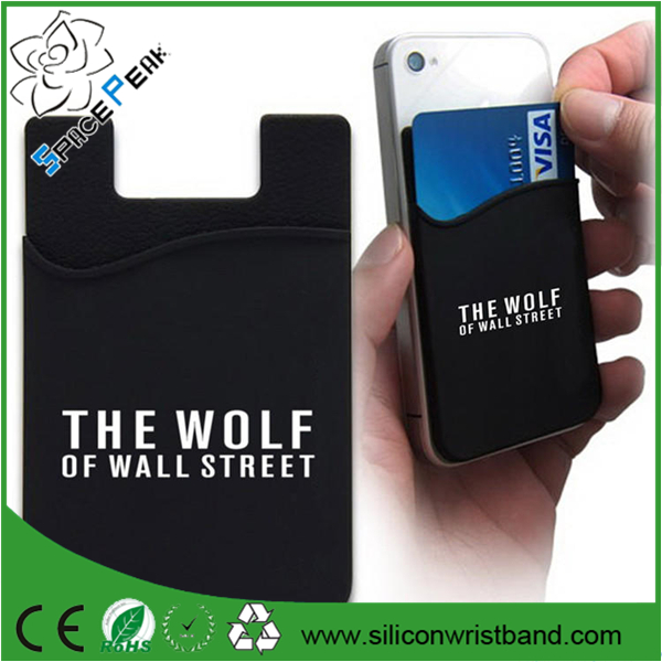 Phone Card Holder,Adhesive Sticker silicon ID Credit Card Wallet Pocket Pouch Sleeve Universal