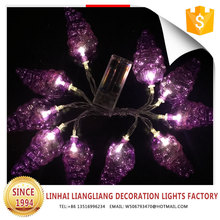 2017 new product purple grape battery led light string
