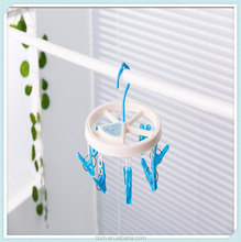 foldable round plastic laundry clips hanger