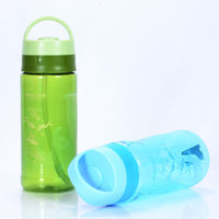 1.5 liter custom plastic sports bottles with straw