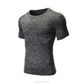 Fashion Fitness Heather Mens Gym T Shirts Soft Polyester Spandex Slim Fit Sports T Shirts