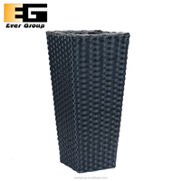 Rectangular Indoor Plastic Rattan Garen Planter