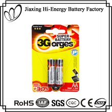 Factory Directly Provide PVC Jacket R6 AA Battery 1.5V