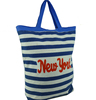 stripe Custom Printing Canvas Tote Bag / canvas shopping tote bag / Hot Sale Fashion Custom Printed Canvas Tote Bags