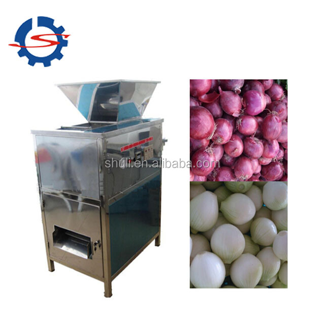 Automatic onion peeling machine auto onions skin peeler and root cutter machinery for sale