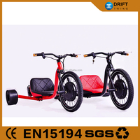 New model motorcycle adult flying drift trike with 48v 500w front motor wheel made in china