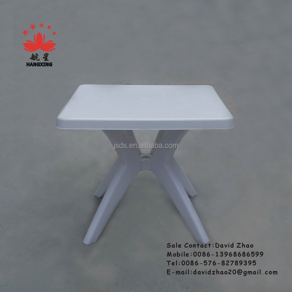 square plastic table