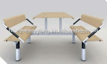 Hot-selling modern durable school canteen conjoined table and chair