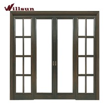Smooth Sliding Wooden Frame Outdoor Glass Sliding Doors With Good Price