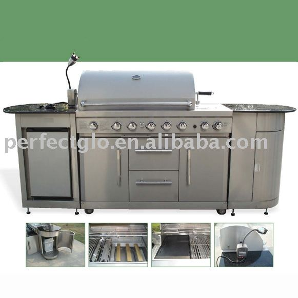 GAS PG-50601SRLB-SC 5B+MB+RB Stainless Steel Grill Island