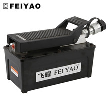 Foot operated hydraulic pump for car lift