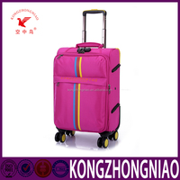 New design custom leisure luggage20 24 28 fanshion soft trolley luggage with internal handle travel luggage cover