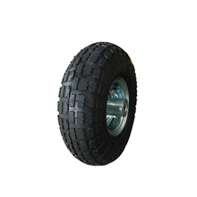 Cheap 3.50-4 rubber pneumatic wheels tyre with metal rim