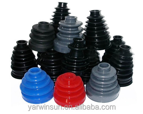 Customized flexible slilcone rubber bellows/auto rubber dust boot/custom molded rubber bellow