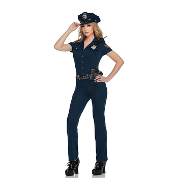 Halloween Carnival Party Police Uniform Cosplay Fancy Dress Character Lady Police Sexy Costume Career Costume
