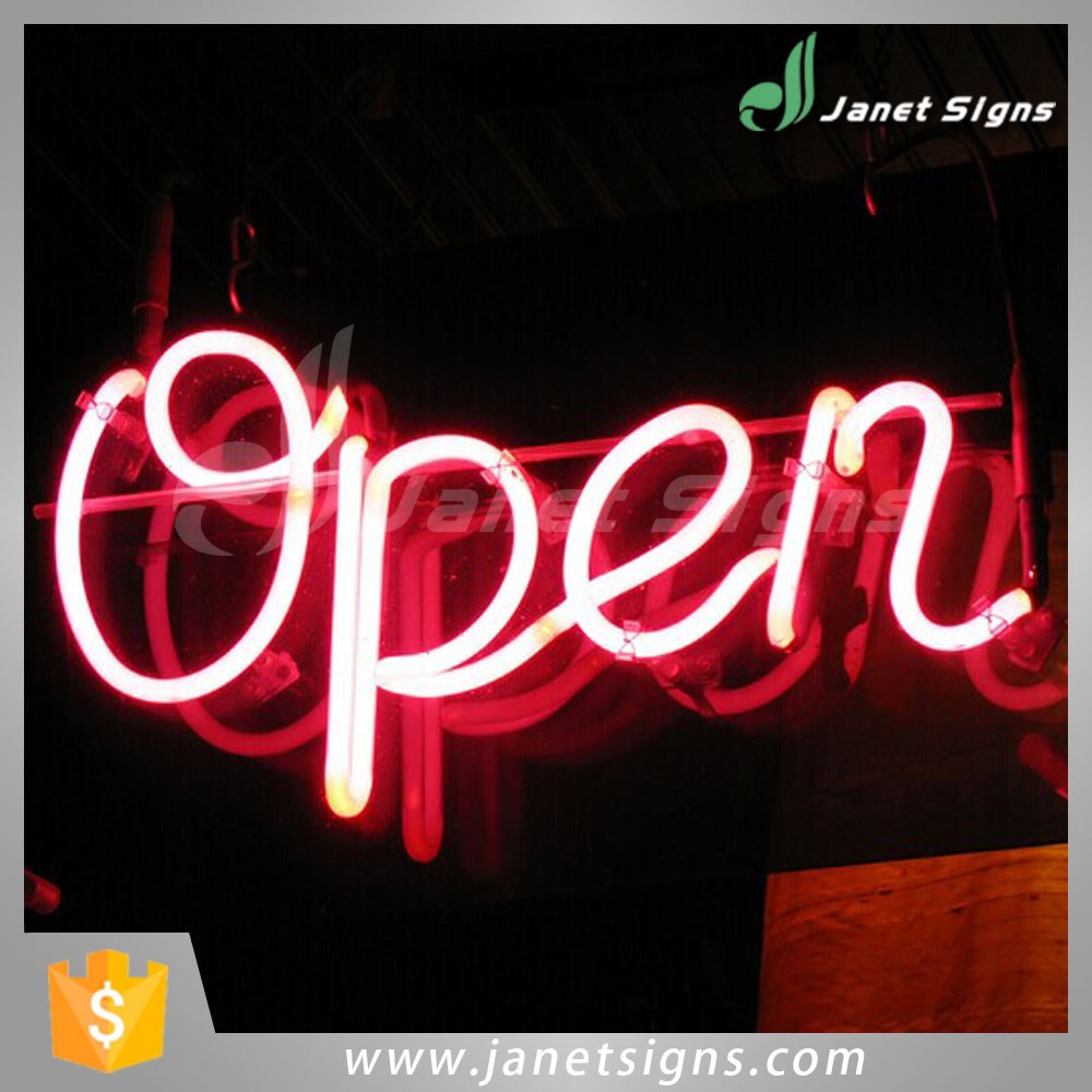Customized Color open advertising neon light programmable led sign for bar home