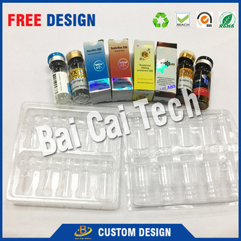 Eco-friendly plastic custom durable frozen food blister tray packaging