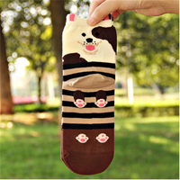 WSP-1122 Wholesale High Quality Jacquard Lovely Animal Dog Women Socks From China Manufacturer Latest New Design Socks