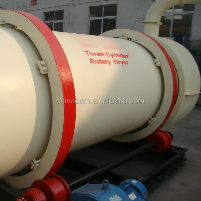 Three Cylinder Sawdust Drum Rotary Dryer Fast Supplier
