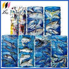 Promotional fish design magic seamless face mask bandana