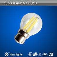 CE ROHS certificated Low Power G45 B22/E27 COB LED Filament Light Bulb