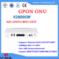 CE certificate fiber optical network equipment gpon ONU/ONT 4GE Ethernet voip wifi iptv catv