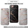 2017 Bronzing Design Chrome Rose Gold IMD Marble TPU Cell Phone Cover Case For iPhone 6 6S 7 Marble , For iphone 7 Plus Case tpu