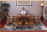 Alibaba hot sale Strong and durable Chinese tea table set with antique carved