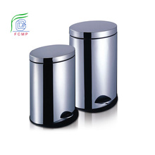 stainless steel dustbin perforate big foot pedal step dustbin