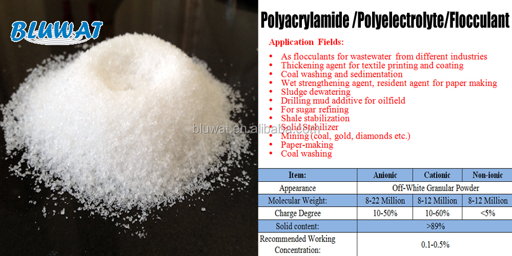 Polyacrylamide pam factory price with excellent quality