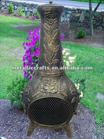 Rose Cast Iron Outdoor Chiminea