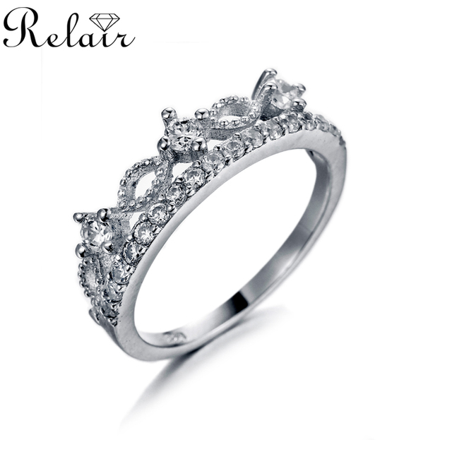 Best Selling Products Fashion Jewelry Italian CZ Rings Jewels 925 Sterling Silver Crown Ring