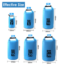 10L/ 20L/ 30L Outdoors travel lightweight Waterproof Ocean Pack Dry Bag