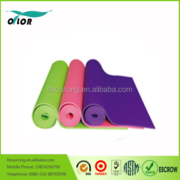 PVC Exercise Mat and Optional Yoga Block, Yoga Towels & Yoga Strap - Choose Your Color & Accessories