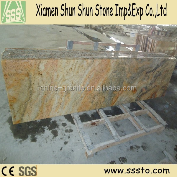 Imperial gold granite kitchen counter tops