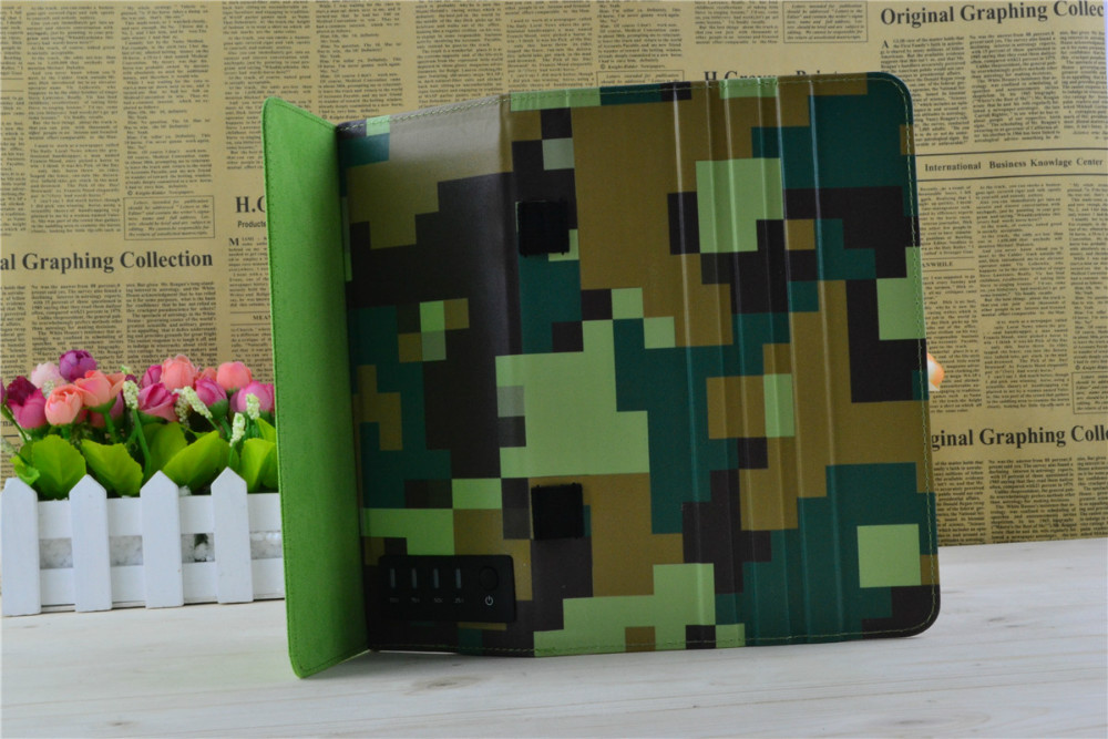 Wholesale army foldable genuine leather case for ipad air