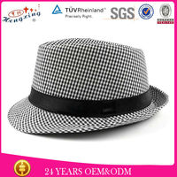 Custom gangster plain mens waterproof round fedora hat