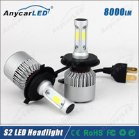 8000LM High Power 30W S2 H4 Auto motorcycle car LED Headlight