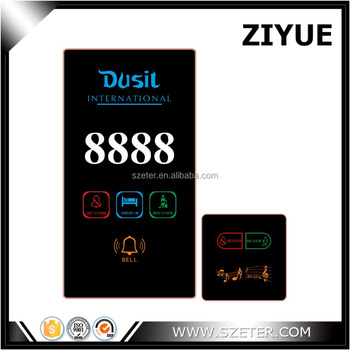 LED wireless touch screen type hotel Bell switch with display room number Sign