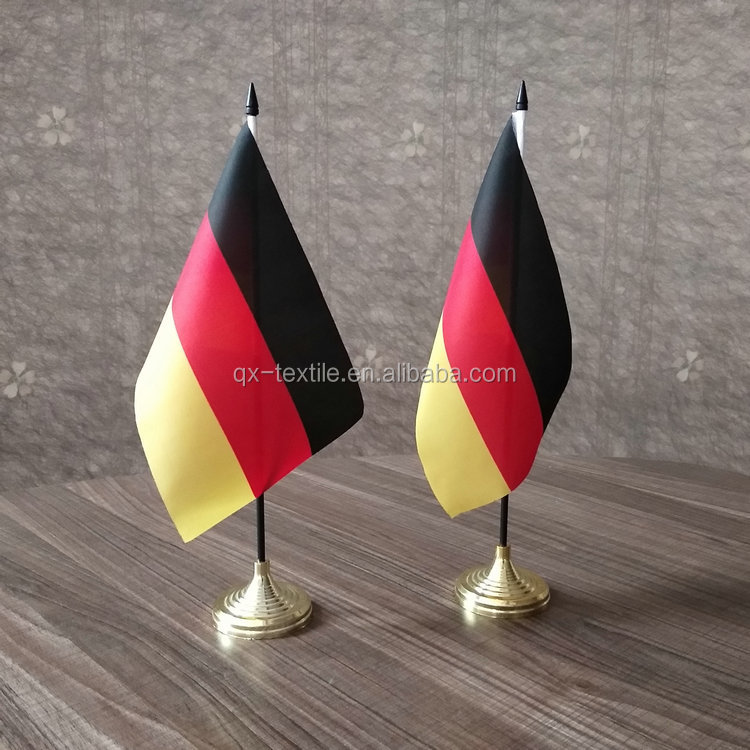 Promotional Cheap Custom Desk Decoration Standing Table Flag with Holder