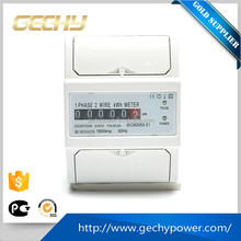 Din rail single phase pulse counter/Register display Electric KWH Meter with Remote outage function