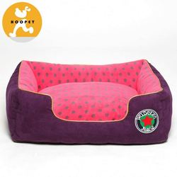 Soft purple dog kennel covers replacement with dots