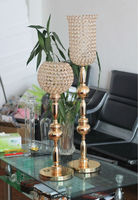 2014 New wedding centre pieces for gold globes crystal stand